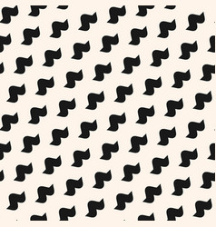 Funky seamless pattern with simple curved shapes vector