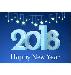 happy new year banner stars vector image