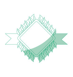 isolated sheet tree banner vector image vector image