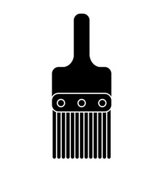 paint brush tool design pictogram vector image