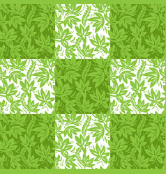 Plant geometric pattern vector