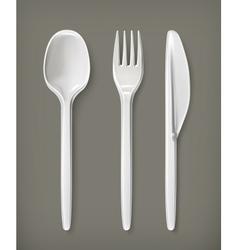 Plastic cutlery vector