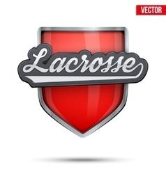Premium symbol of lacrosse label vector