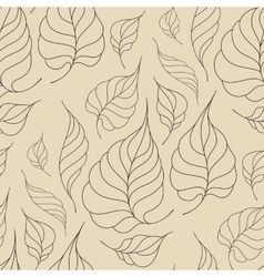 Seamless pattern with leaves in vintage style vector