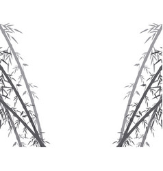 Spa fresh bamboo leaves border botanical zen vector