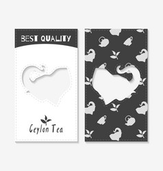 tea shop business cards vector image vector image