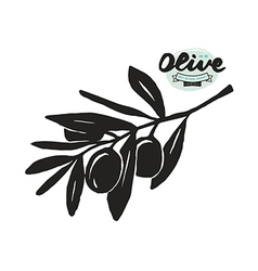 Stock of olive branch silhouette vector