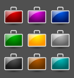 Suitcase icons vector