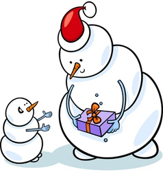 Christmas snowmen cartoon vector