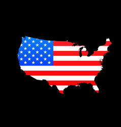 map of usa with american flag texture vector image