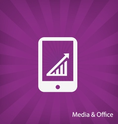Office media icon vector