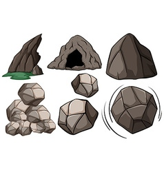 Cave and rocks vector