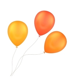 Orange yellow balloons isolated background vector