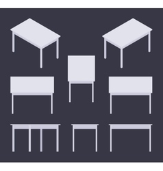 Isometric white table vector