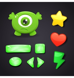 Interface icons set for game design vector