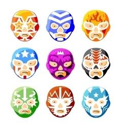 Lucha libre luchador mexican wrestling masks vector image