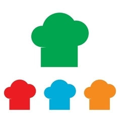 Chef cap sign colorfull set vector