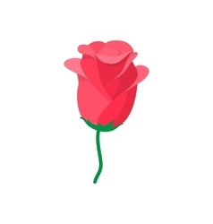 Red rose icon cartoon style vector