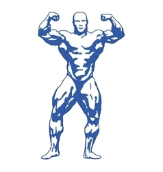 Bodybuilder muscular man vector