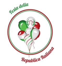 Italy national republic day vector
