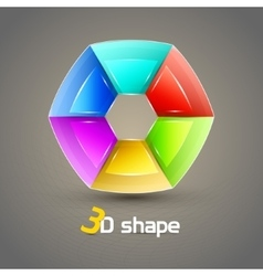3d shape abstract background vector