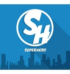 Superhero sign city design graphic vector