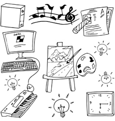 Hand draw of doodle school education vector