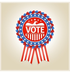 American patriotic election label vector image vector image