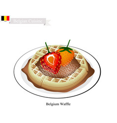 belgium waffle a famous dish of belgium vector image vector image