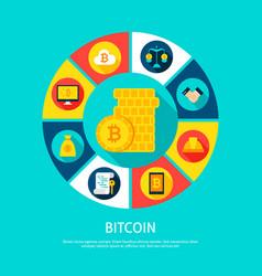 Bitcoin money concept vector