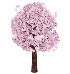Blooming Sakura Tree vector image vector image