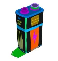 Cartoon battery flat icon vector image