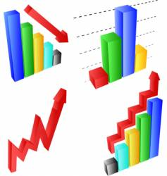 chart and graph elements vector image vector image