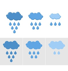 Clouds and rain Set of icons for rain for vector image