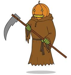Death angel pumpkin vector