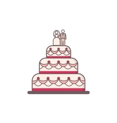 Decorated wedding cake vector