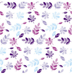decorative fall leaves pattern vector image