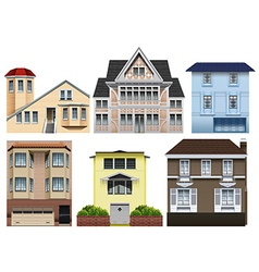 Different designs of houses vector image vector image