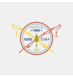 Fishing camp logotype vector