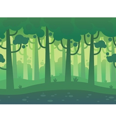 Game seamless horizontal forest background vector