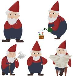 Garden gnomes vector