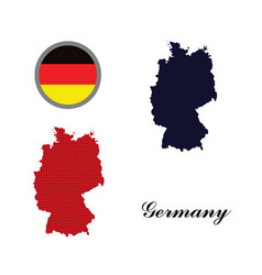 Germany map with the german flag vector