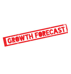 Growth forecast rubber stamp vector