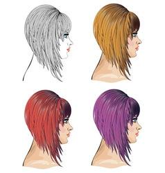 Hair bob vector