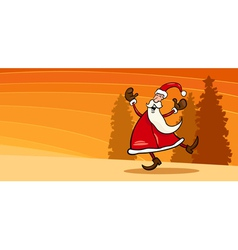 happy Santa Claus cartoon card vector image vector image