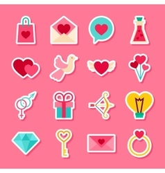 Happy valentine day stickers vector