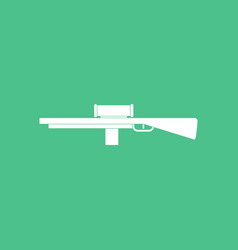 Icon military sniper rifle vector