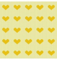 Knitted hearts seamless pattern vector