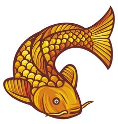 koi fish vector image