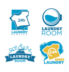 laundry room emblems vector image vector image